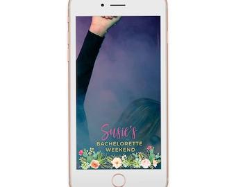 Bachelorette Snapchat Filter   Floral Cactus   Southwestern   Bridal Geofilter