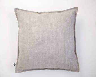 Natural linen pillow, linen euro sham, rustic bedding, bed linens, linen pillow shams, linen bedding, linen sham, pillow shams,0064