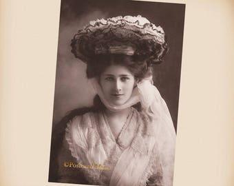 Edwardian Actress Phyllis Dare - New 4x6 Vintage Postcard Image Photo Print - SD188