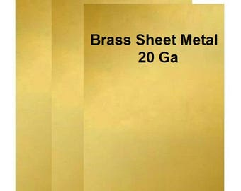 20 Ga Solid Brass Sheet Metal Assorted Sizes Available / Made In USA