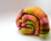 Finger Lime - Art Batt - Merino and Sparkle - Spinning Mermaid - 3.1 oz