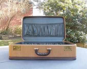 Leather suitcase | Etsy