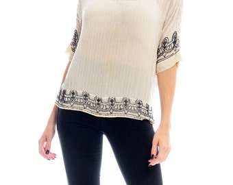 1920s Beaded Top Size: L