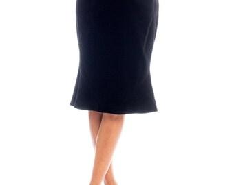 1990s Thierry Mugler Velvet Flared Hem Pencil Skirt Size: S