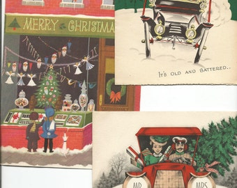 Vintage Group of 3 Christmas Cards