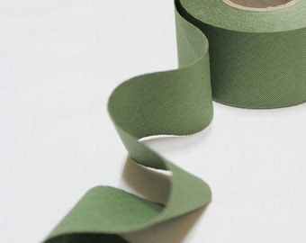 4 cm Oxford Cotton Bias Tape in Smoky Green - 12 yards - By the Roll - 91225