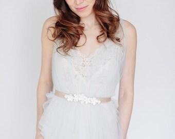 Bridal Sash- Wedding Sash,  Wedding Accessory. Flower Sash, Wedding Bridal Belt Sash, Abigial Grace Bridal