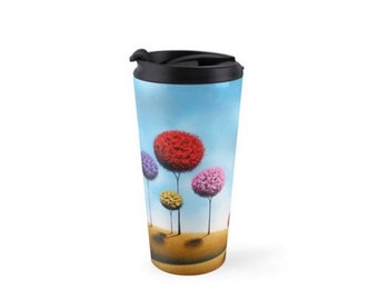 Stainless Steel Tumbler, 15oz Coffee Mug Travel Cup, Spill Proof Cup with Lid, Travel Coffee Cup, Tea Cup Travel Tumbler, Cute Water Bottle
