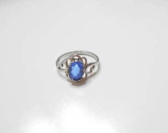 Vintage Blue Sapphire Ring (6670) Size 6