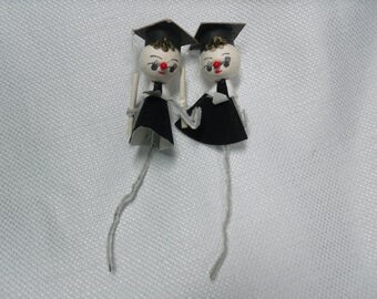 Vintage Spun Cotton Figures, Graduates