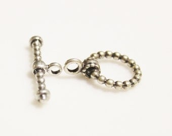 Sterling Silver Ball Texture Clasp made in Israel, Jewelry Findings, Sterling Silver Findings (SP6)