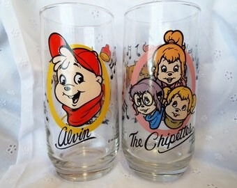 2 Vintage Cups Alvin Chipmunk and The Chipetts 1985