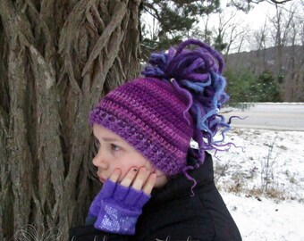 Pinks, Purples, and Ridges Messy Bun Hat