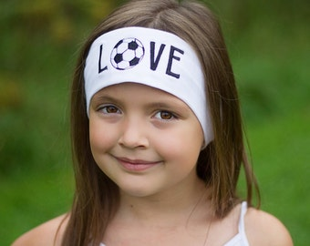 Soccer Embroidered Headband, Soccer Accessory, Soccer Gift, Soccer Player, Sports Headband, Sweat Band, Head band, Embroidery Gift