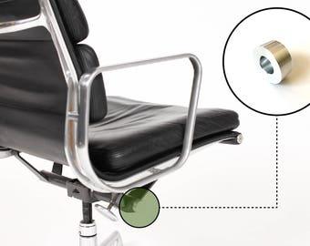 Eames Herman Miller Aluminum Group Chair Tilt End Cap - Brushed - Small Size