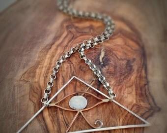 Vintage Illuminati Necklace Dark Mori Jewelry
