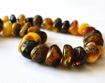 Natural Genuine Baltic Amber, Amber Necklace, Organic Jewelry, Amber Summer Time