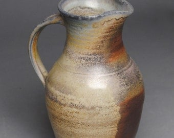 Clay Pitcher Jug Wood Fired G1
