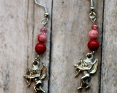 Adorable Earrings, with little Angel Cupid, Love, Valentine