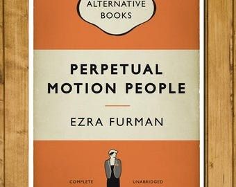 Ezra Furman - Perpetual Motion People - Book Cover Poster - Alternative Book Cover Print - Indie Rock Music Gift (Various Sizes)
