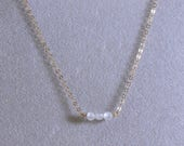 Clear CZ Choker Necklace ...