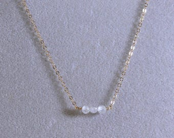 Clear CZ Choker Necklace - Delicate Clear Cubic Zirconia Adjustable Choker - Layering Choker - Gift for Her -