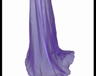 Beautiful Purple Shimmer Organza Cloak. Ideal for a Summer Wedding, Handfasting or Medieval Event. Brand New. Made Especially For You.