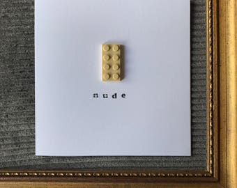 Mothers Day card created with Lego, Anniversary, Birthday, Husband, Wife, Funny, cheeky