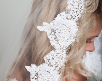 Mantilla Lace Wedding Veil