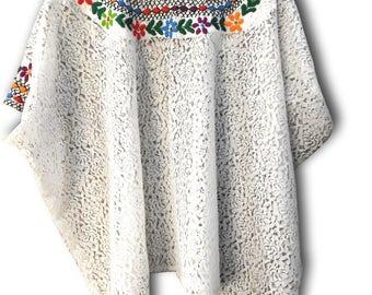 White caftan blouse, boho bohemia beach top, Beach cover ups, lace sleeveless womens top, embroidered kaftan blouse,  beach blouse boho