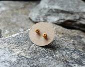 Tiny ear studs, Seed studs, post earrings, polymer clay and silver, tiny, small, simple, colour, minimal, everyday