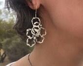 Sterling Earrings, Asymmetrical Earrings, Dangle Earrings, Handmade Earrings.