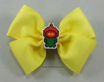 Flatwoods Monster Hair Bow - Braxton County Monster Hair Bow - Yellow Hair Bow