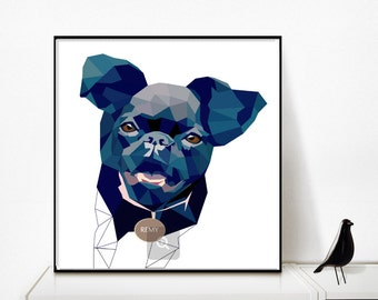 Custom Pet Portrait - Custom Dog Portrait - Personalized Pet Portrait - Printable Pet Drawing - Pet Memorial - Birthday Gift For Pet Lovers