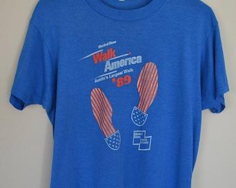 Vintage March of Dimes Walk America '89 T-Shirt