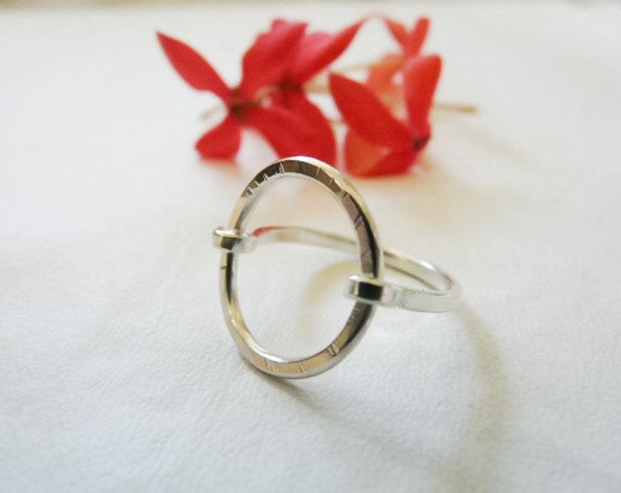 Sterling Silver Ring Circle Ring Index Ring Handmade Jewelry Under 25