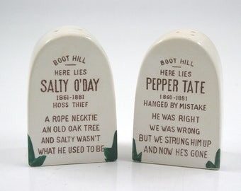 Vintage Boot Hill Tombstone Salt and Pepper Shakers