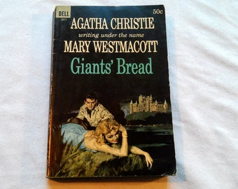 "Vintage 60's Paperback, ""Giants' Bread"" by Agatha Christie, writing as Mary Westmacott, 1964."
