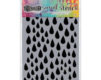 """Dyan Reaveley's Dylusions Stencils 5""""X8""""  small raindrops design perfect for mixed media, scrapbooking, journaling and so much more"""