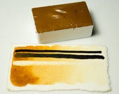 Full Pan Raw Sienna Handmade Artist Watercolour Paint Schmincke Pigment