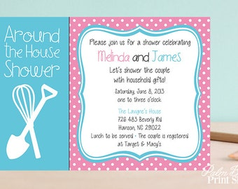 around the house couples shower invitation party printable invitations bridal shower invitations