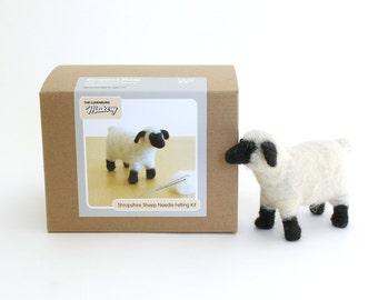 Needle Felting Kit Beginner Wool Shropshire Sheep with Tools