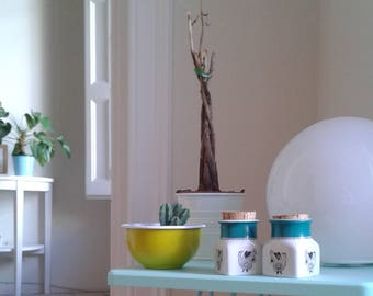 60s Arabia Finland pots with added hand-painted details