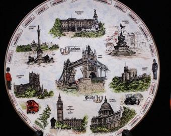 Argyle China Plate- Souvenir of London England