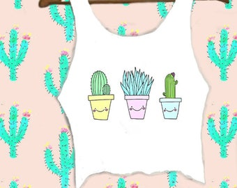 Be Kind To Cacti Crop Top