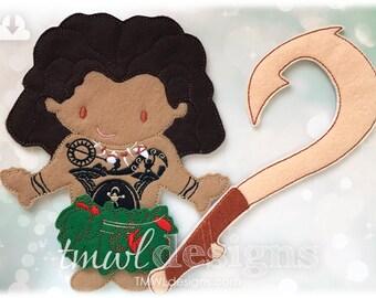 Leaf Skirt Husky Felt Paper Doll Outfit Digital Design File - Husky