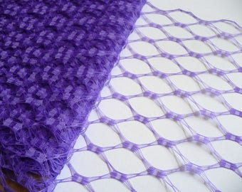 Purple Veiling for Vintage Style Hats Millinery Supply 9 Inch Birdcage Russian French Netting DIY Veils Blushers