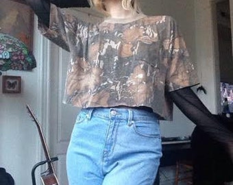 Vintage Threadbare Camo Tee / Faded T-shirt