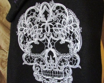 Cashmere Skull Scarf