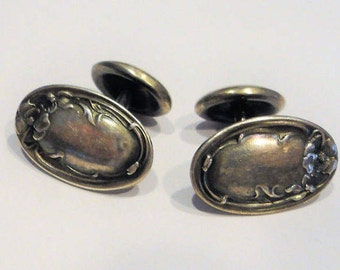 Sterling 925 Marked Antique Mens Cuff Links Vintage Collectible Can Be Engraved 10.7 Grams